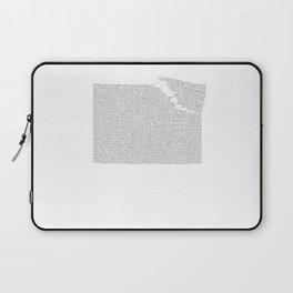 Erosion & Typography 2 Laptop Sleeve