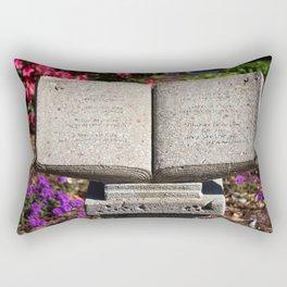 Holy Bible In Stone Rectangular Pillow