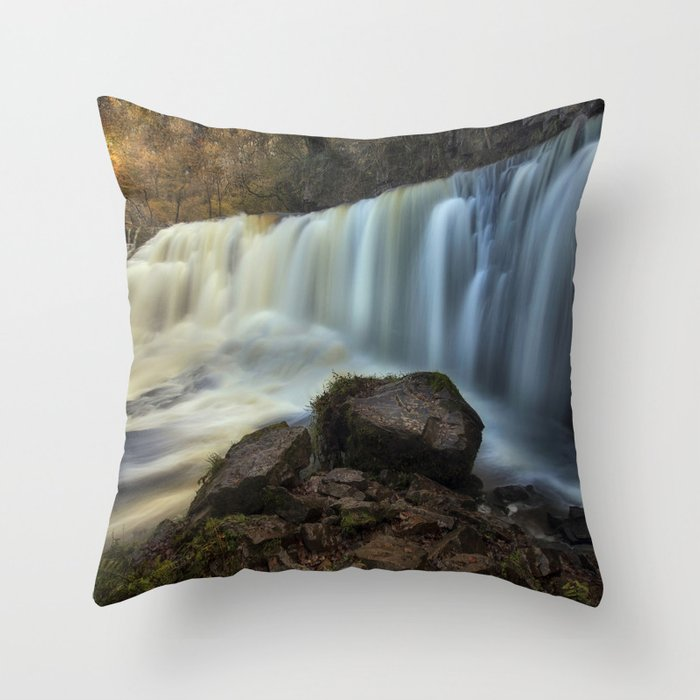 Sgwd Isaf Clun-gwyn Falls Throw Pillow