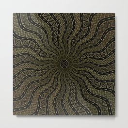 Golden Oracle | Ornamentalism Metal Print