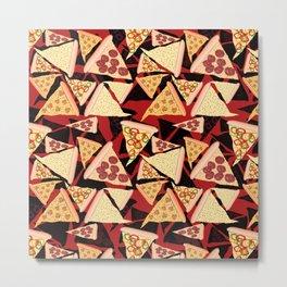 Pizza Pattern No.2 Metal Print