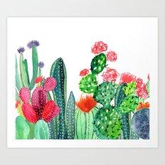 A Prickly Bunch 4 Art Print