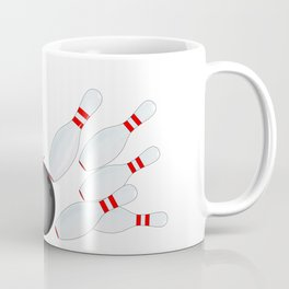 Falling Ten Pins Coffee Mug