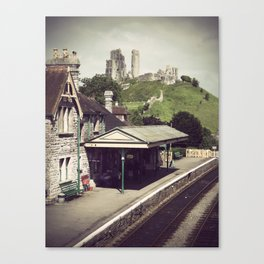 Corfe Castle Railway Station Canvas Print