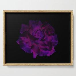 Ultra Violet Velvet Rose loves Black Serving Tray