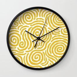 Ripple Effect Pattern Yellow Wall Clock