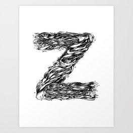 The Illustrated Z Art Print