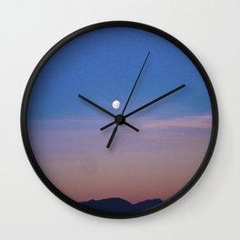 Beautiful Moon, fabulous sky. Wall Clock