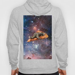 Pizza Sloth In Space Hoody