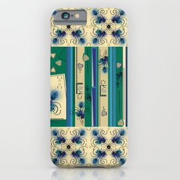 Thistle Print Quilt Coordinate iPhone Case
