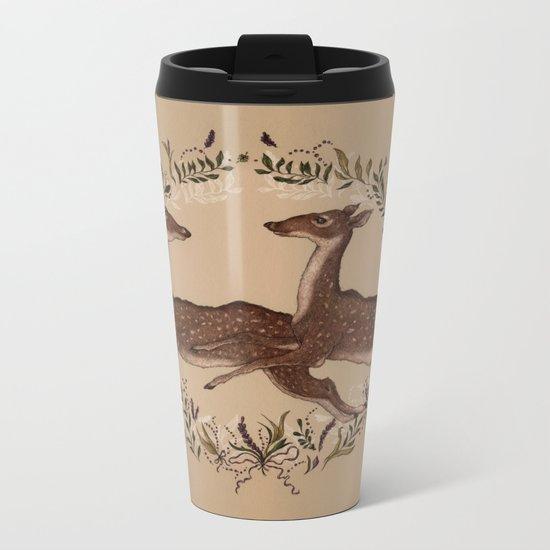 Jumping Deer Metal Travel Mug