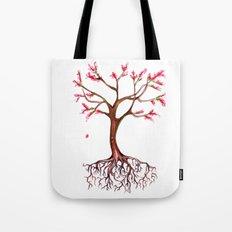 Dead Roots Tree Watercolor Tote Bag