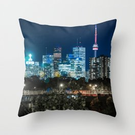Urban Nights, Urban Lights #7 Throw Pillow