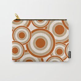 Overlapping Circles in Burnt Orange and Tan Carry-All Pouch