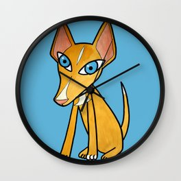 Pino, the Spanish hound dog Wall Clock