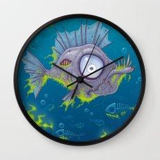 Zombie Fish Wall Clock