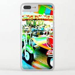 Merry Go Round Motorbikes at the Carnival Clear iPhone Case