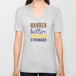 Harder Better Faster Stronger Unisex V-Neck