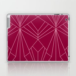 Art Deco in Raspberry Pink - Large Scale Laptop & iPad Skin