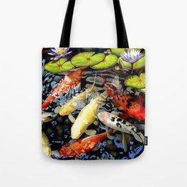 Koi & Waterlilies Tote Bag