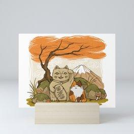 Maneki Neko Mini Art Print