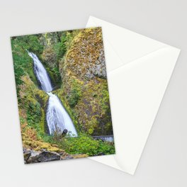 Wahkeena Falls in the Columbia River Gorge Stationery Cards