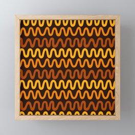 Bold 70s Waves Framed Mini Art Print