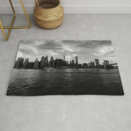 New York Skyline - Black & White Rug