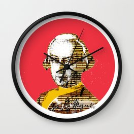 Mozart Kugel Red Wall Clock