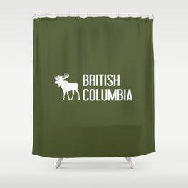 British Columbia Moose Shower Curtain