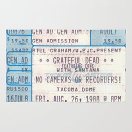 Concert Ticket Stub - The Dead (Personalized) Rug