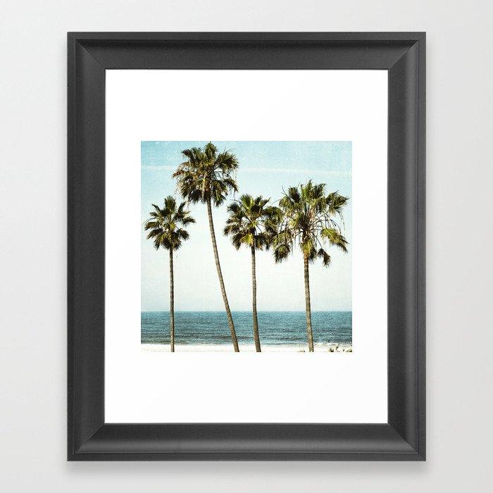 Ocean Palms  Framed Art Print
