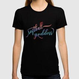 Softball Goddess Summer Ombre T-shirt