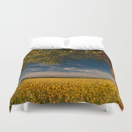 Wonderful springfields with beautiful sky - Rape Duvet Cover