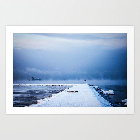 Snow winter 4 Art Print