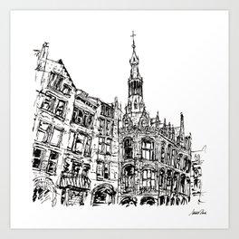Urban Inkscape 6 Amsterdam Art Print