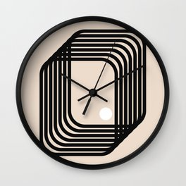 Simplicity art and a point Wall Clock