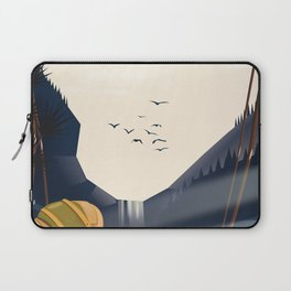 Canada - Go Hiking travel poster. Laptop Sleeve
