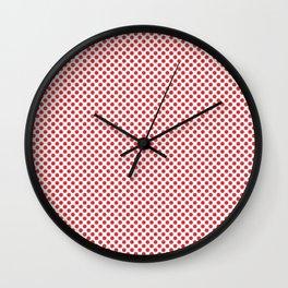 Poppy Red Polka Dots Wall Clock