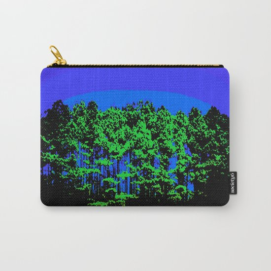 Mod Trees Blue & Green Carry-All Pouch