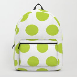 Mid Century Modern Polka Dots 565 Chartreuse Green Backpack