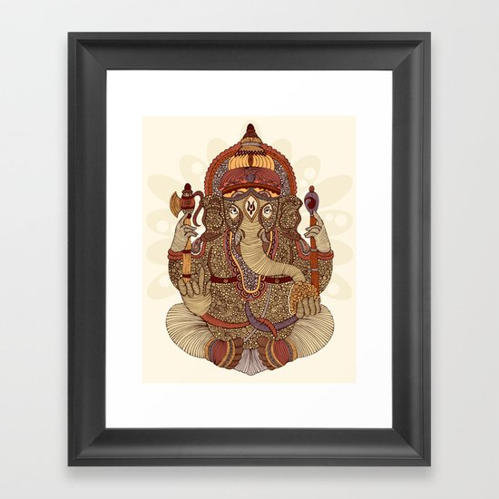 Ganesha: Lord of Success Framed Art Print