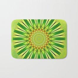 Mandala green Star Bath Mat
