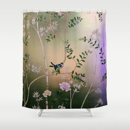 Chinoiserie Style Shower Curtain