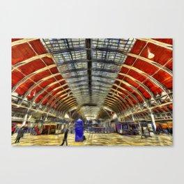 Paddington Railway Station Art Canvas Print