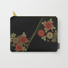 Chrysanthemum wave Carry-All Pouch