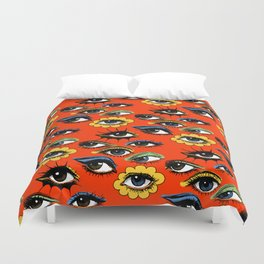 60s Eye Pattern Duvet Cover