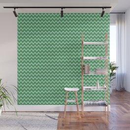 green grey chevron Wall Mural