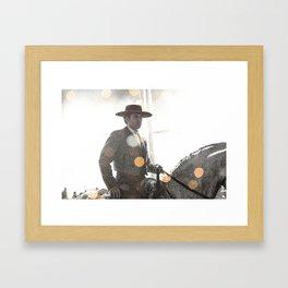 Bokeh rider Framed Art Print