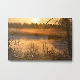 Misty Morning By The River Metal Print